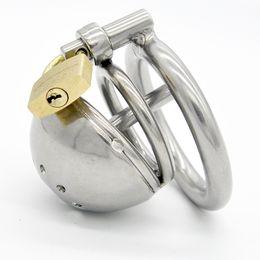 Schwulen-käfig online-Edelstahl männlich Grenze Keuschheit kürzeste Käfig Harnröhrenrohr Gimp GAY GAY BD Sex Spielzeug Erwachsene Produkte