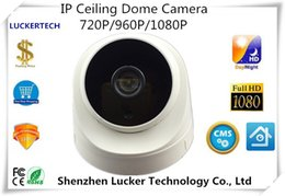 Wholesale Ip Camera Array - Luckertech IP Ceiling Dome Camera 720P 960P 1080P 2.0MP Network CCTV Security PoE Audio 8 Array Infrared LEDs P2P Survillance