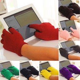 Wholesale Orange Cotton Gloves - Men women touch screen upgrade water more winter warm soft cotton knitting gloves Smart For All phones Several Colors ST001