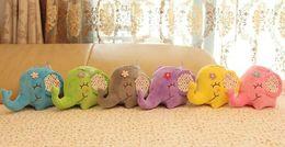 Wholesale Super Sucker - Super Kawaii Floral Elephant 12CM Approx Plush Stuffed TOY DOLL Sucker Car & Room & Window Bouquet TOY DOLL