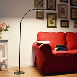 Wholesale Reading Lights For Bedside - Nordic Eye-protective LED Floor Lamp 8W 5-level Brightness Modern Stand Light for Living Room Sofa Bedside Reading Piano Lamp