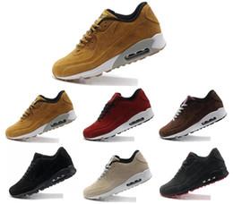 90 Kış Koşu Ayakkabıları Erkekler Süet Tasarımcı Ucuz Sneakers Eğitmenler Spor Siyah Beyaz Atletik Koşu Yürüyüş Açık Sonbahar Yürüyüş Ayakkab ... cheap white shoes winter nereden beyaz ayakkabı kış tedarikçiler