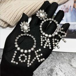 Wholesale Bridal Earrings Diamond Chandelier - Love Paris Earrings for Women Diamond Bling Bling Dangle For Wedding Party Boucle D'oreille Femme 2017 Bridal Shinny Chandelier Earring