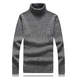 Wholesale Trendy Winter Sweaters - 2017 Winter New Men's Wool With High-necked Casual Fashion Trendy Long Sleeve Sweater Youth Turtleneck Style