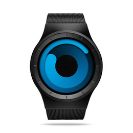 2020 esporte científico design criativo moderno Moda Sport Watch Man Ms Quartzo Pulseira malha inoxidável relógios Rodar o relógio de pulso ponteiro Ciência estilo ficção esporte científico barato