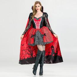 Canada 2018 Boîte De Nuit Bar Sexy Halloween Dentelle Vampire Sorcière Robe Cosplay Jeu Uniforme Costume DJ Chanteur Costume Partie Traînette Costume 1543 Offre
