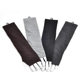 Сексуальные перчатки моды онлайн-Long Fingerless Gloves Femme knitted glove Long Sexy Knitted Glove New Fashion 2018 Women Winter Wrist Arm Hand Warmer