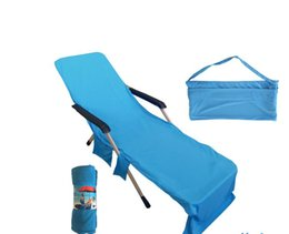 Argentina Venta al por mayor Lounger Mate Toalla de playa de microfibra doble terciopelo solarium Lounger Bed Holiday Garden Beach Chair cubierta toallas Suministro