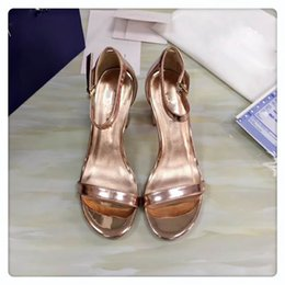 gold chunky heeled sandals Coupons - High heel famous brand sandals for women in spring and summer, women's High-heeled sandals, ,womens designer sandals,size:5cm or 7cm