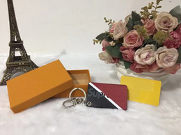 Wholesale Box Tab - First Luxury First Fashion Real Box Black Red Keychain Downtown Tab Bag Charm Key Holder Red Box bogo For Man And Women Authentic Quality cc