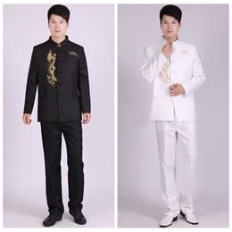 männliche schuluniform Rabatt Chinesische Anzug Stehkragen Anzüge Männer  Chinesische Tunika Anzug Männlich Schlank Schuluniform Schule Tragen 6d36c4bb4a