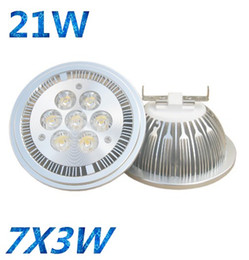 Wholesale Led E27 Lm - Best Selling!High Power 7*3W dimmable AR111 GU10 LED Lamp Spotlight Bulb AC DC 85-265V 1000-1100 lm CE RoHS Free DHL