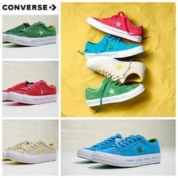 81c6c95b9d73 2018 new Converse One Star Ox Pinstripe Fur Shoes Chuck 1970S Canvas Women  Men Blue Green designer casual running Brand Sneakers 35-44
