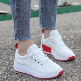 Wholesale fitness trainers shoes - Womens casual Trainers Running Shoes Sneakers Round Toe Lace-up Flat Heels Breathable Fitness Shoes 3 Colors