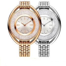 jewelry rolls Promo Codes - Hot Items Luxury Women watch Rose Gold Brand SWA Watch steel Strap Lady Bracelet Dress watches Jewelry buckle Multi colors Rolling Diamonds
