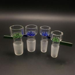 schneeflocke Rabatt Schieben Sie bunte Glasschüsseln mit Schneeflocken-Filterschale mit rundem Wabengitter rund 14,4 mm und 18,8 mm für Glasbongs