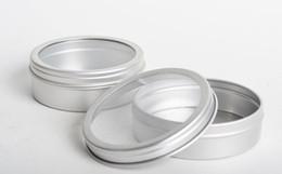 2019 vasi da finestra 40 g di vasetti di alluminio crema per la cura della pelle vuota con finestra in PVC, lattina di alluminio da 40 g di bottiglia di metallo bottiglia di metallo barattolo di latta vasi da finestra economici