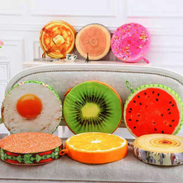 Wholesale Sofa Decorations - 3D Kiwifruit Plush Throw Pillow Office Sofa Decoration Fruit Shape Cushion Many Styles Hot Sale 14mx C R