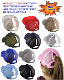 Argentina CC Ponytail Cap Messy Bun Mujeres Ponytail Caps Cap Fashion Girl Baloncesto Sombreros Back Hole Pony Tail Suministro