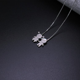 wedding pendant for boys Promo Codes - New Design Boy And Girl Pendant Necklace Jewelry For Women Pgy046