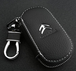 Wholesale Citroen C5 Key - Car leather key bag set of key activities Car key case for Citroen C4L C2 C5 new Elysee Sega car accessories,