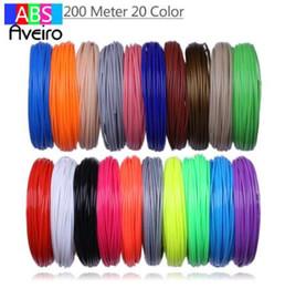 3D Baskı Kalem 200 metre Için kullanın 20 Renkler 1.75 MM ABS Filament Konuları Plastik 3 d Yazıcı Malzemeleri Çocuk Çizim Oyuncaklar Için nereden doodle art tedarikçiler