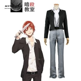 Wholesale Costumes Class - 2018 ACGN STATION Assassination Classroom Class 3-E Karma Akabane Suit kids costume Cosplay Costume