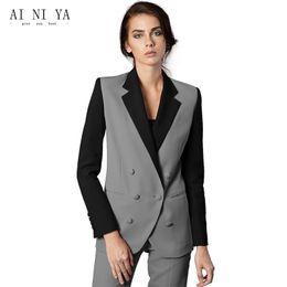 Wholesale Work Uniform Pants - Formal Women Business Suits 2 Piece Pant and Jacket Sets Office Ladies Work Wear Uniforms Slim Female Trouser Suits Custom Made