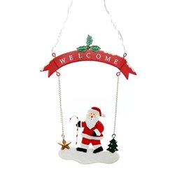Alberi di natale decorati santa online-Christmas Santa Pupazzo di neve Bauble Xmas Tree Party Hanging Decoration Ornament Ideale per decorare la casa Natale ghirlande A20