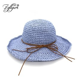 Zgllywr Handmade Bowknot Straw Hats for Women Summer Beach Fashion Sun Hat  Floppy Wide Brim Foldable new Raffia Wide Brim 650eb0ca2713