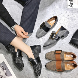 Wholesale Korean Style Office Dress - 2018 spring and autumn period, the new British loafer shoes will be in a retro style with the Korean version T141