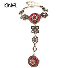 Wholesale wholesale fashion jewelry turkey - New 2016 Fashion Crystal Jewelry Vintage Flower Look Unique Bracelets For Women Color Gold Luxury Turkey Accessories