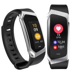 e18 impermeabile Bluetooth Smart Watch Support Frequenza cardiaca Spesa di calorie con fotocamera Per gli smarphone da