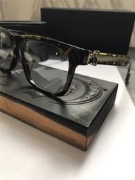 Occhiali vintage di marca online-Nuovo occhiale da vista vintage da uomo CHR occhiali da vista steampunk stile piccolo da uomo marca lenti trasparenti lenti trasparenti per occhiali da vista