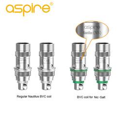 Aspire nautilus bvc bobinas online-100% Original Aspire Nautilus AIO Bobinas con tecnología BVC nautilus bvc / NS bobina 1.8ohm para aspirar nautilus aio kit Envío gratis