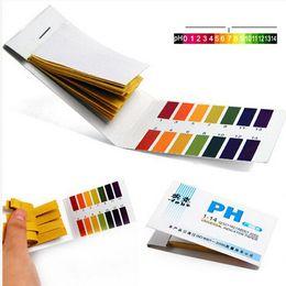 Wholesale litmus paper test strips - Wholesale-2015 New Full Range 1-14 Litmus Test Paper Strips Tester Indicator PH Partable 80 Strips PH Paper Meters Analyzers
