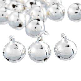 Jingle bells artesanato on-line-Jingle Bells Pingentes de prata Pendurado Enfeites de Árvore de Natal Decorações de Natal Do Partido DIY Artesanato Acessórios 18x14mm # 262