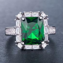 Vintage Femmes Eternal Ring Vert Diamonique Cz 925 Argent Rempli De Bijoux De Mariage pour Fiançailles Cadeau Taille 6-10 ? partir de fabricateur