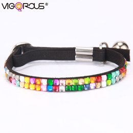 Wholesale Kitten Bell - Bling Cat Collars with Bells in Collars Leads Small Dog Collar Pets Accessory Pet Products Collar for Puppies and Kittens YS0034