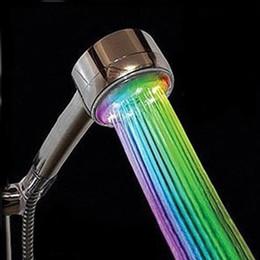 2019 duschkopf handspray Hand-Wasser-Bad-Raum-Badezimmer-LED-Duschkopf-Spray-Sprüher-Silber-Weiß rabatt duschkopf handspray