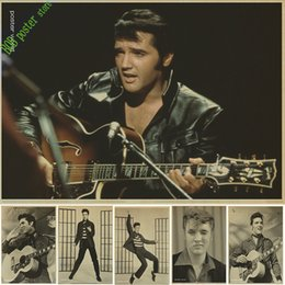 décorations elvis Promotion Rock star de la musique elvis Presley affiche décoration de noël décoration de fête maison décorations autocollant affiche vintage