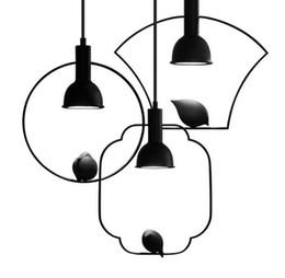 Canada Chinois Style Créatif Led Pendentif Lumières Fer À Suspendre Lampes Oiseau Lampe pour Salon Chambre Couloir Luminaires À La Maison Offre