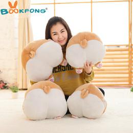 Wholesale Doll 38 - BOOKFONG Cartoon Corgi Sexy Hip Plush Pillow Buttocks Cushion Soft Stuffed Animal Doll Kids Toy 38*36cm