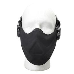 Schutzmaske militär online-Outdoor-Jagd-Schutz halbe Gesichtsmaske Tactical Radfahren Breathable Face Shield Military Detective Sicherheit Leichtbau-Schutz