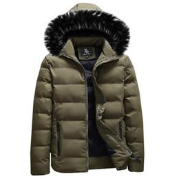 Outwear homem coreano on-line-2018 Parkas Casaco de Algodão dos homens Nova Marca Casaco Masculino Coreano Magro Moda M-XXXL Inverno Outwear Casuais Zipper Parka para Homens