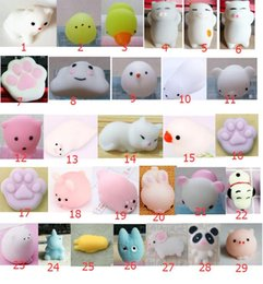 Wholesale mini cat - Squishy Slow Rising Jumbo Toy Bun Toys Animals Cute Kawaii Squeeze Cartoon Toy Mini Squishies Cat Squishiy Fashion Rare Animal Gifts Charms