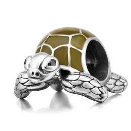 perles oeil de chat violet Promotion Original 100% 925 Sterling Silver charmes de tortue de mer perles de bricolage bijoux Fit bracelets Pandora en gros