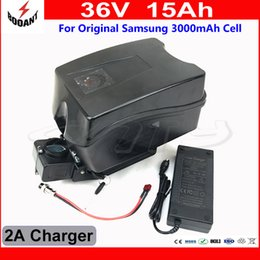 Discount 42v 2a charger - eBike Battery 36V 15Ah Use Original Samsung 30B 18650 Cell Lithium Battery 36V For 8Fun Bafang Morot 800W With 42V 2A Charger