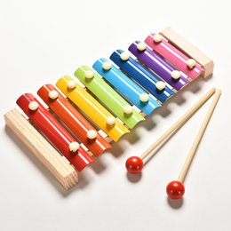 Wholesale Wooden Instruments For Children - Wholesale Learning&Education Wooden For Children Kid Musical Toys Wisdom Juguetes 8-Note Music Instrument