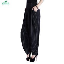 Wholesale Brown Salon - OKXGNZ Korean Women lantern pants wide leg 2017 large size loose spring radish pants female summer salon long QQ796